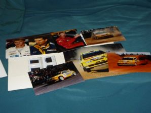 SEAT WRC 1997 RAC RALLY GB Press kit with 6 photos & 6 35mm slides.